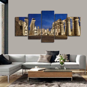 Pharaohs At Luxor Multi Panel Canvas Wall Art - Africa