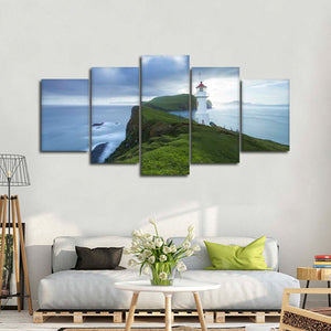 Lighthouse By The Sea Multi Panel Canvas Wall Art - Lighthouse