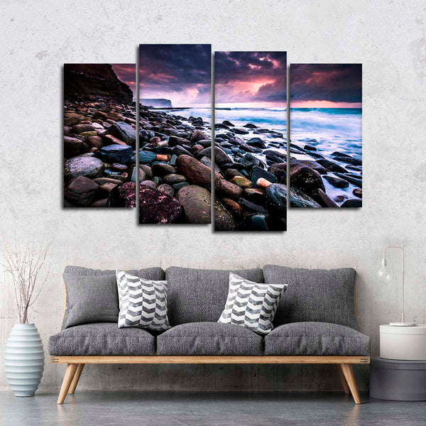 Beautiful Coastal Scenery Multi Panel Canvas Wall Art