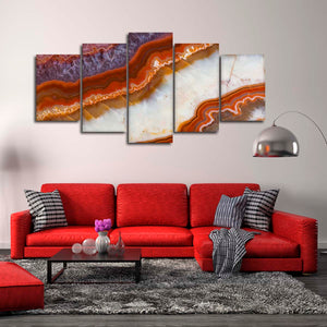 Beautiful Crystal Multi Panel Canvas Wall Art - Abstract