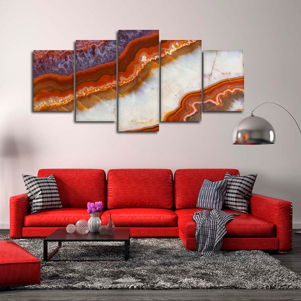 Beautiful Crystal Multi Panel Canvas Wall Art
