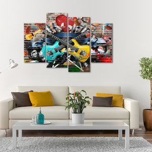 Music Festival Multi Panel Canvas Wall Art - Graffiti