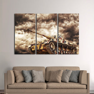 Army Tank Multi Panel Canvas Wall Art - Army