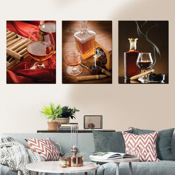 Cigar Club Canvas Set Wall Art