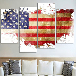 United States Of America Multi Panel Canvas Wall Art