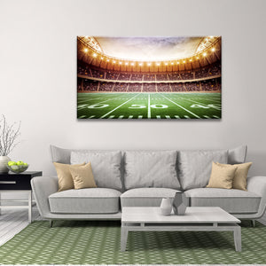50 Yard Multi Panel Canvas Wall Art - Football