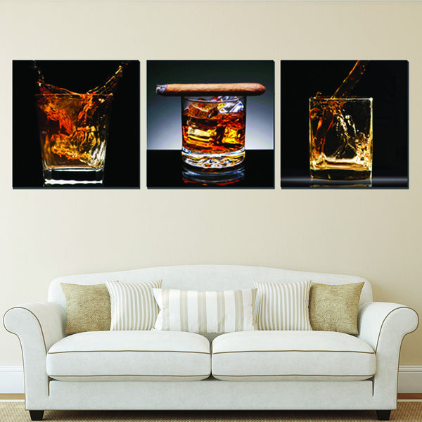 Whiskey Fusion Canvas Set Wall Art