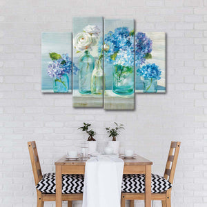 A Beautiful Day at the Beach Multi Panel Canvas Wall Art - Flower