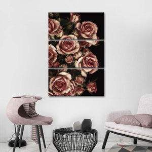 A Dozen Roses Multi Panel Canvas Wall Art - Rose