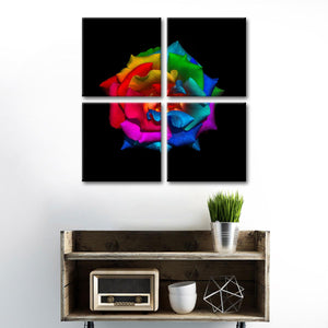 A Gift for my Muse Multi Panel Canvas Wall Art - Rose