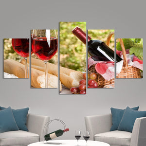 A Perfect Afternoon Multi Panel Canvas Wall Art - Winery