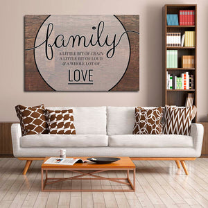 A Whole Lot Of Love Canvas Wall Art - Inspiration