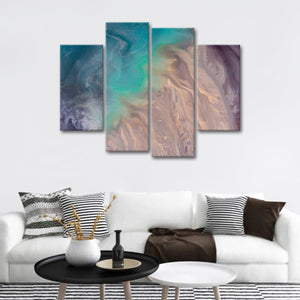 Abstract Beach Multi Panel Canvas Wall Art - Aerial