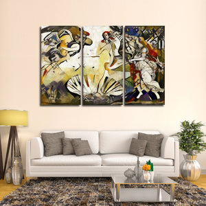 Abstract Birth Of Venus Multi Panel Canvas Wall Art - Classic_art