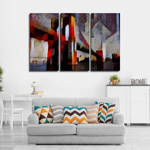 Abstract Brooklyn Bridge Multi Panel Canvas Wall Art - Abstract