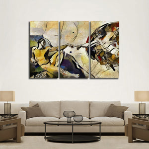 Abstract Creation Of Adam Multi Panel Canvas Wall Art - Classic_art
