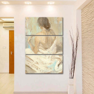 Abstract Figure Study II Multi Panel Canvas Wall Art - Abstract