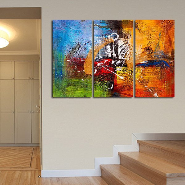 Abstract Oil Painting Multi Panel Canvas Wall Art | ElephantStock
