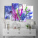 Abstract Flowers Multi Panel Canvas Wall Art