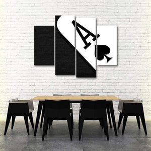 Ace Of Spades Multi Panel Canvas Wall Art - Poker