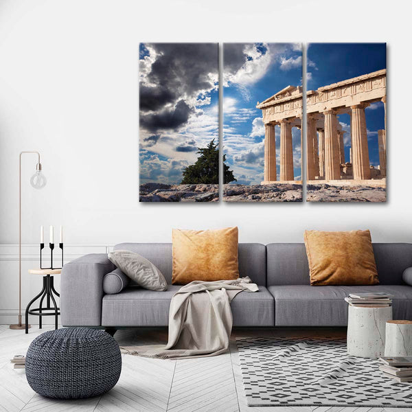 Acropolis Of Athens Multi Panel Canvas Wall Art