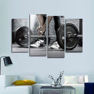 Addicted To Lifting Multi Panel Canvas Wall Art - Lifting