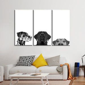 Adorable Pups Multi Panel Canvas Wall Art - Dog