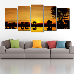 African Savanna Multi Panel Canvas Wall Art - Africa