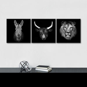 African Wildlife Multi Panel Canvas Wall Art - Animals