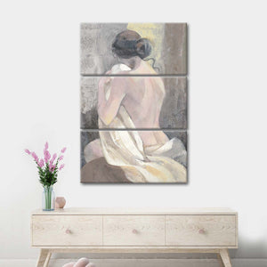After the Bath II Multi Panel Canvas Wall Art - Abstract