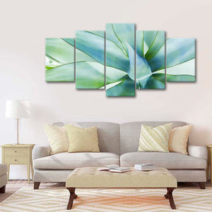 Agave Leaves Multi Panel Canvas Wall Art - Botanical