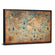 Aged World Map Multi Panel Canvas Wall Art