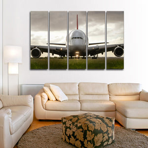 Airbus A380 Multi Panel Canvas Wall Art - Airplane