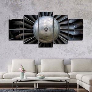 Aircraft Engine Multi Panel Canvas Wall Art - Airplane