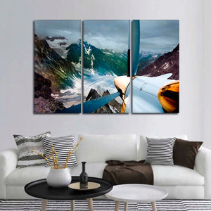 Airplane Painting Multi Panel Canvas Wall Art - Airplane