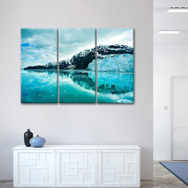 Alaskan Icy Mountains Multi Panel Canvas Wall Art