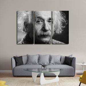 Albert Einstein Multi Panel Canvas Wall Art - Education