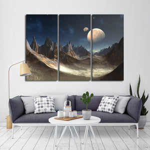 Alien Planet Multi Panel Canvas Wall Art - Alien