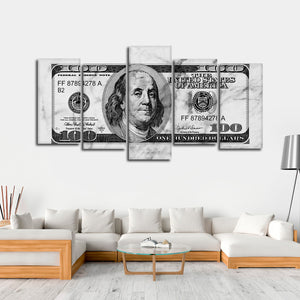 All About The Benjamins Multi Panel Canvas Wall Art - Entrepreneur