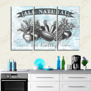All Natural Produce Multi Panel Canvas Wall Art - Kitchen