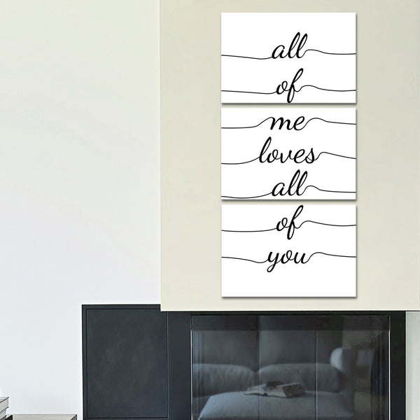 All Of Me Loves Multi Panel Canvas Wall Art