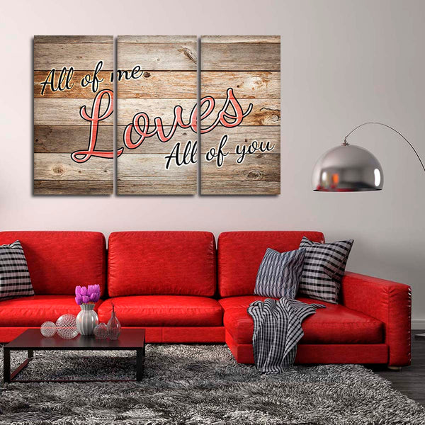 All Of Me Multi Panel Canvas Wall Art