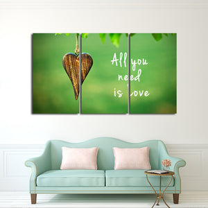 All You Need Is Love Multi Panel Canvas Wall Art - Relationship