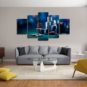 All In Multi Panel Canvas Wall Art - Gambling