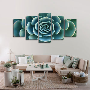 Aloe Succulent Multi Panel Canvas Wall Art - Botanical