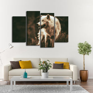 Alpha Multi Panel Canvas Wall Art - Wolf