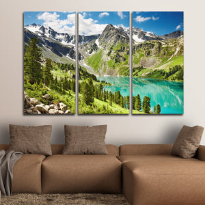 Altai Mountains Multi Panel Canvas Wall Art - Nature