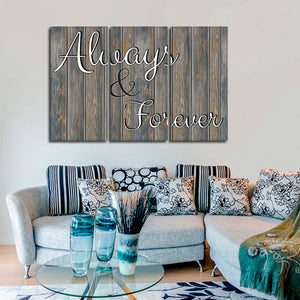 Always And Forever Multi Panel Canvas Wall Art - Relationship