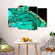 Amazonite Stone Multi Panel Canvas Wall Art