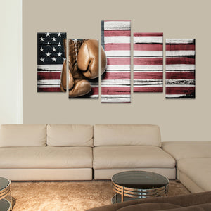 American Boxing Multi Panel Canvas Wall Art - Boxing